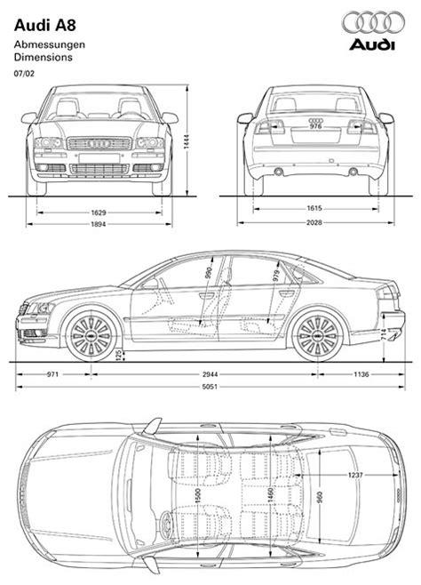 Kofferraumvolumen Audi A8 by Audi A8 Abmessungen Technische Daten L 228 Nge Breite