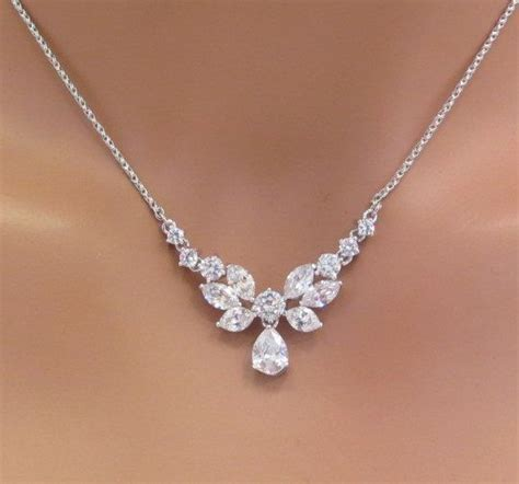 braut kette simple bridal necklace bridal rhinestone necklace
