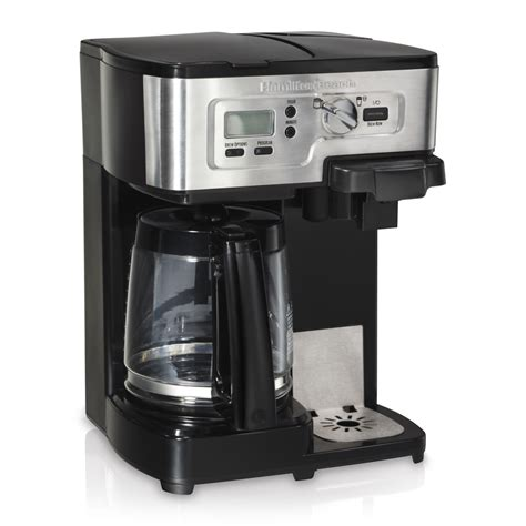 Shop Hamilton Beach Black/Stainless Steel 12 Cup Programmable Coffee Maker at Lowes.com