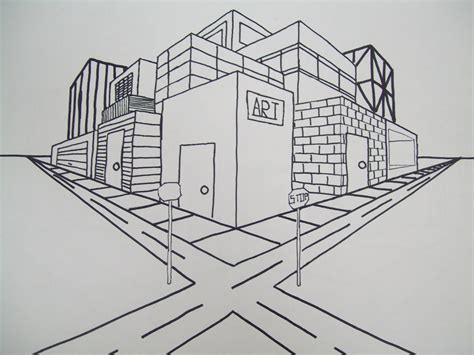2 Point Perspective Drawing Cityscape by Gallery Easy Images Of Two Point Perspective Drawings