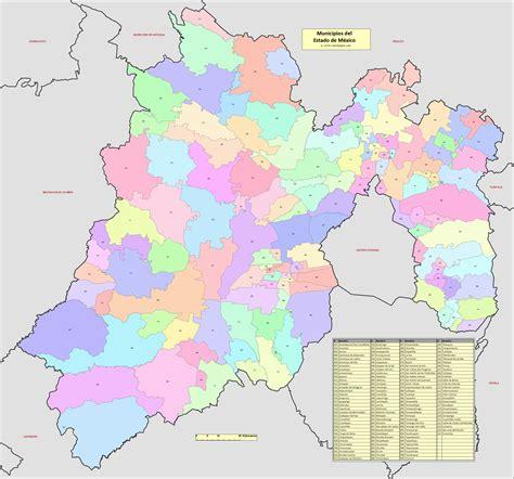 www refrendo estado de mexico mapa de los municipios del estado de m 233 xico