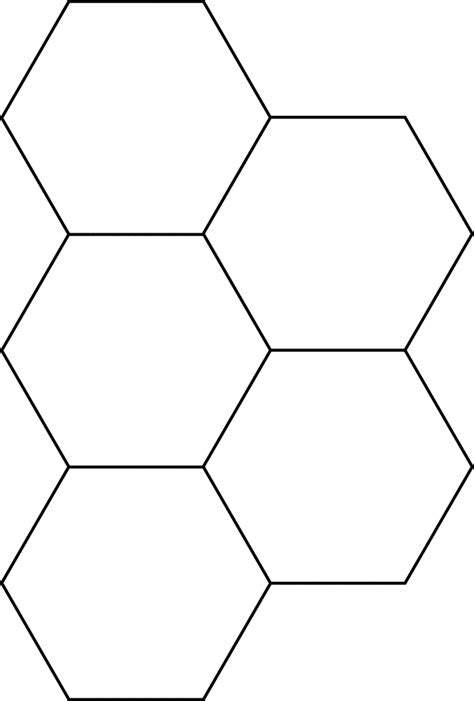 Hexagon Block by Small Hexagons For Pattern Block Set Clipart Etc