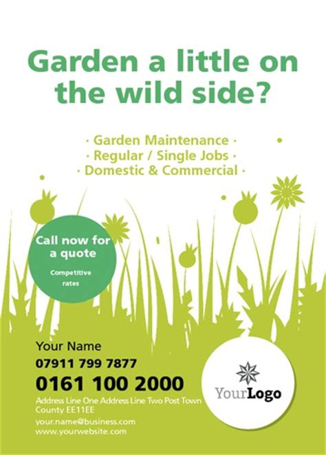 flyer templates gardening online print templates printing com