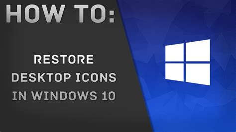windows keeps resetting desktop icons how to restore desktop icons in windows 10 youtube