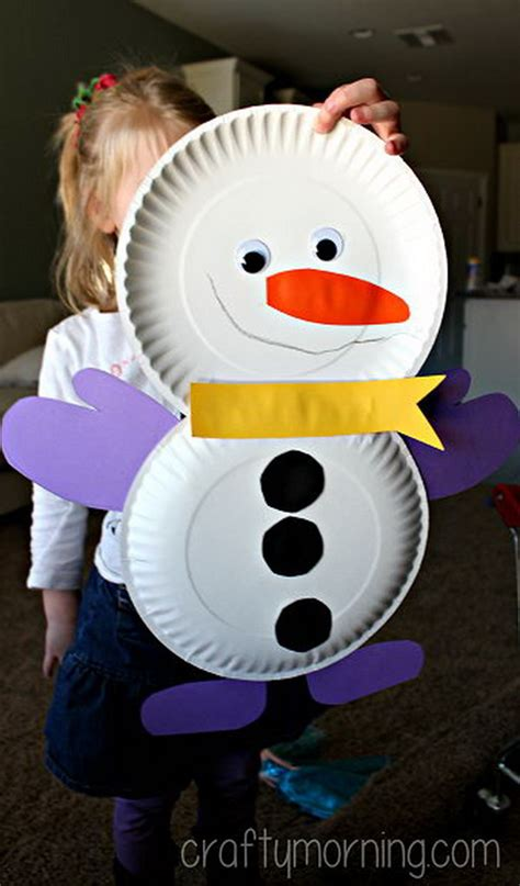 Snowman Paper Crafts - 25 cool snowman crafts for hative