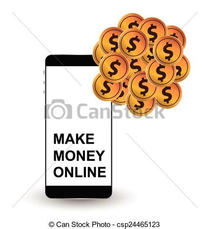 Make Money Online Drawing - vector illustration of make money online concept make money online financial and