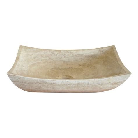 stone vessel bathroom sink shop eden bath travertine stone vessel rectangular bathroom sink at lowes com