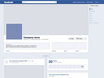 facebook timeline template freebie by maros holly dribbble