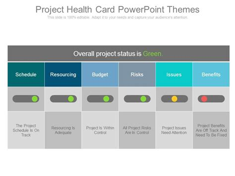 themes to presentation project health card powerpoint themes templates