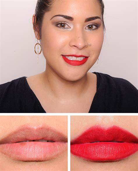 Lipstick Mac Ruby Woo mac the matte lip collection 2015 review photos