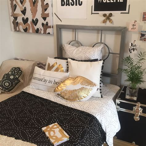 cool room ideas for college guys black white wrapped black gold dormify com dorm tours pinterest