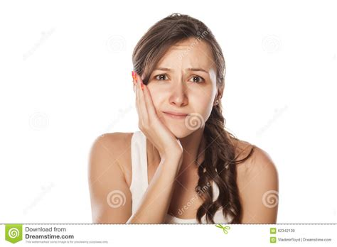 pictures of a woman s neck and jaw line painful jaw stock photo image 62342139