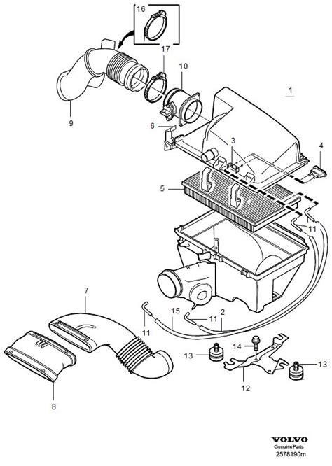 volvo air inlet filter fuel exc engine  genuine volvo part