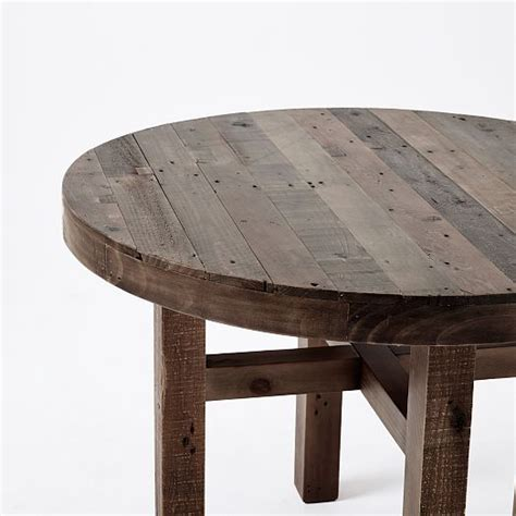 west elm round table emmerson round dining table 42in reclaimed pine west