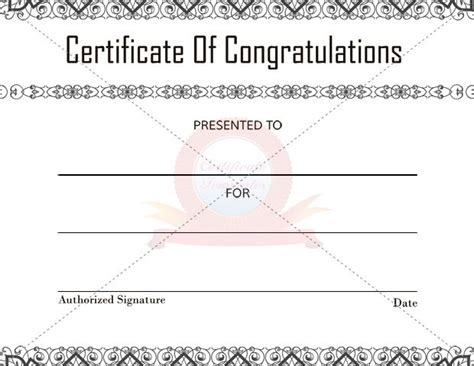 felicitation certificate template top 7 ideas about congratulation certificate on