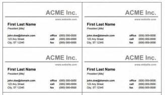 Word Templates Business Cards by Free Business Cards Templates For Word Best Business