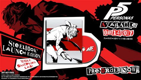 Best Seller Persona 5 Steelbook Launch Edition Ready Stock Persona 5 Us Release Date Is 5 Months After Japan Special