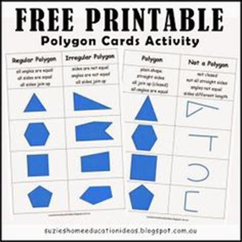 printable polygon poster 2d shape poster polygon family tree flow chart freebie
