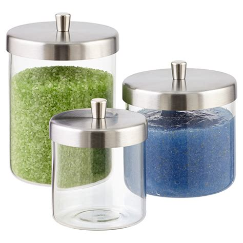 bathroom jars with lids apothecary jars glass apothecary jars the container store