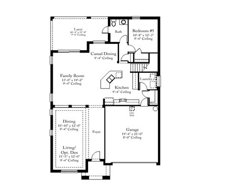 standard pacific home floor plans standard pacific homes brookland floor plan home design