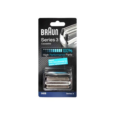 braun 32s cassette braun 32s series 3 shaver foil and cutter replacement