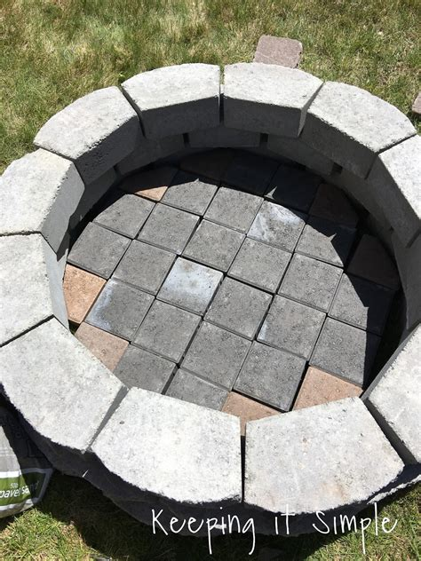 building a pit with pavers how to build a diy pit for only 60 keeping it