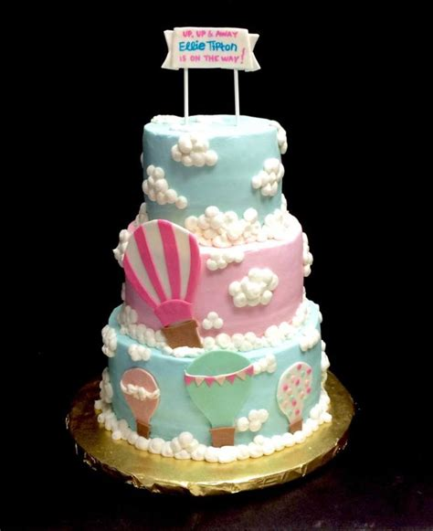 Air Balloon Themed Baby Shower by Air Balloon Baby Shower Cake Cakecentral