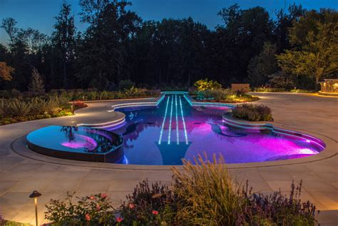 beleuchtung pool custom swimming pool by cipriano landscape design beyond