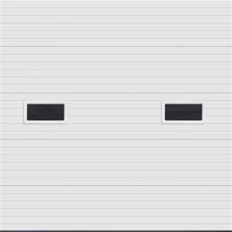 10x10 Insulated Garage Door by Ideal Door 174 10 Ft X 10 Ft 5 White Ribbed 2 Lite