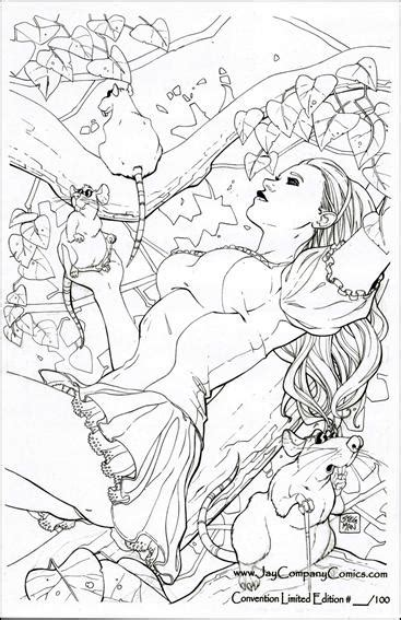 grimms tales coloring book vol 1 a kawaii coloring book for adults and cinderella snow white hansel and gretel the frog prince and other stories books image grimm tales vol 1 27 d jpg zenescope