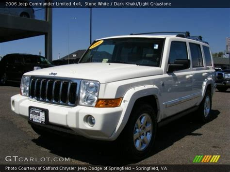 2006 Jeep Commander White White 2006 Jeep Commander Limited 4x4 Khaki