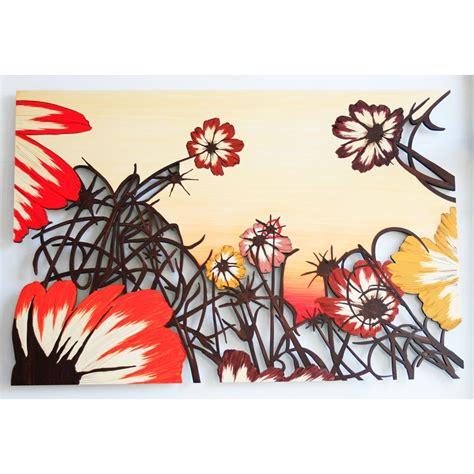 fiori quadro quadro con fiori in legno