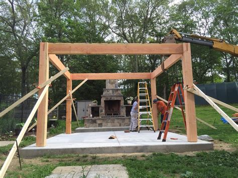 before after diy pergola kit for rhode island fireplace