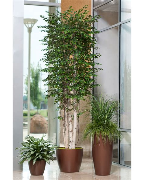 fake plants for home decor shop double full silver queen artificial plants at