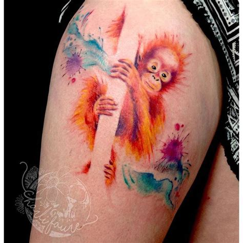 watercolor tattoo removal 25 best ideas about monkey tattoos on tattoos
