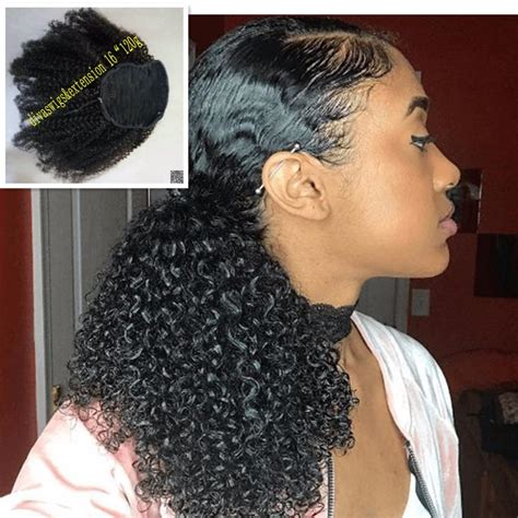 how to put clips in short natural african american hair gallery short ponytail weaves black hairstle picture