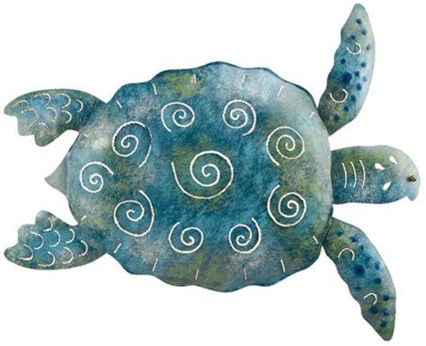 coastal living nautical big blue  green sea turtle