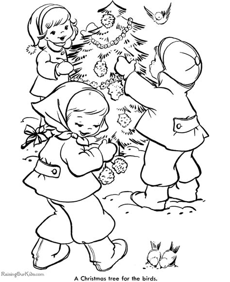 Decorate The Christmas Tree Coloring Pages 006 Decorate A Tree Coloring Page