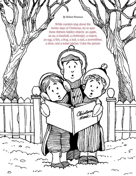 lds coloring page christmas lds games find and color christmas carols christmas