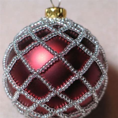 bead ornaments beaded ornament cover handmade
