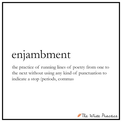 exle of enjambment enjambment definition and exles for writers