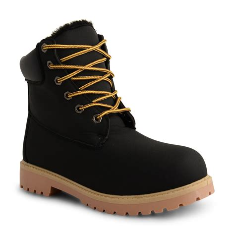 womens casual lace up ankle work boots