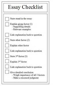 Checklist For Essay Writing by Structured Essay Questions Seq Ihc For Dummies