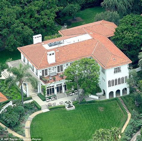 cecil b demille estate moving trucks at angelina jolie s new 25million mansion