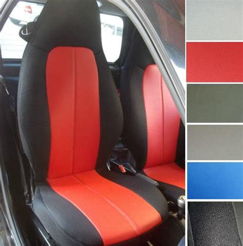 smart fortwo leatherette car seat covers  synthetic sides  custom fit