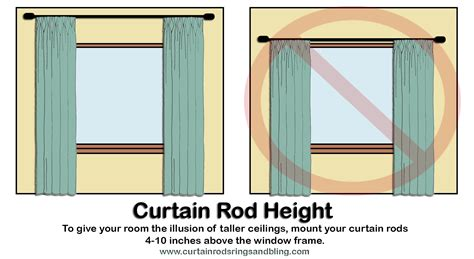 curtain rod height curtain rods 187 how to mount curtain rods inspiring