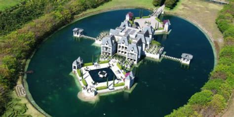 house with a moat miami castle with a moat on the market for 10 9 million