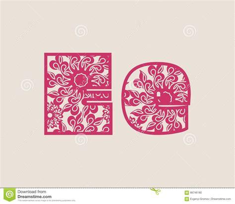 decorative symbol font download decorative alphabet vector font stock vector