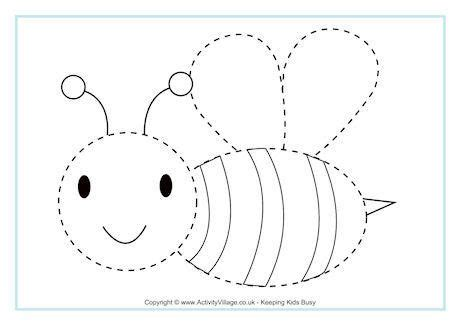 bee tracing page bee activities bee coloring pages bee