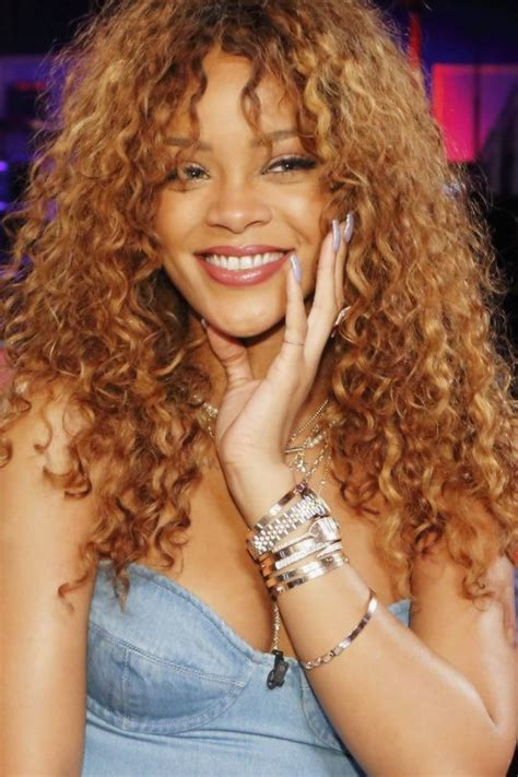 Rihanna Curly Hairstyles by Mane Addicts Curly Hair Bangs From That Are Way Cool
